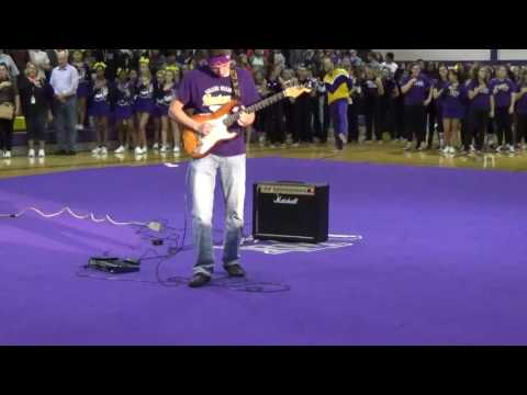 Jimi Hendrix Star Spangled Banner Guitar School Assembly