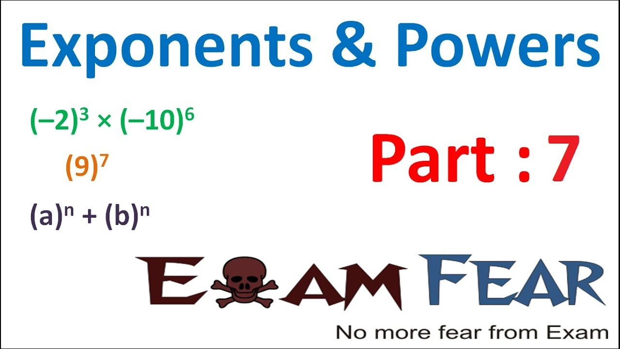 Maths Exponents and Powers part 7 (Questions) CBSE Class 7 Mathematics VII
