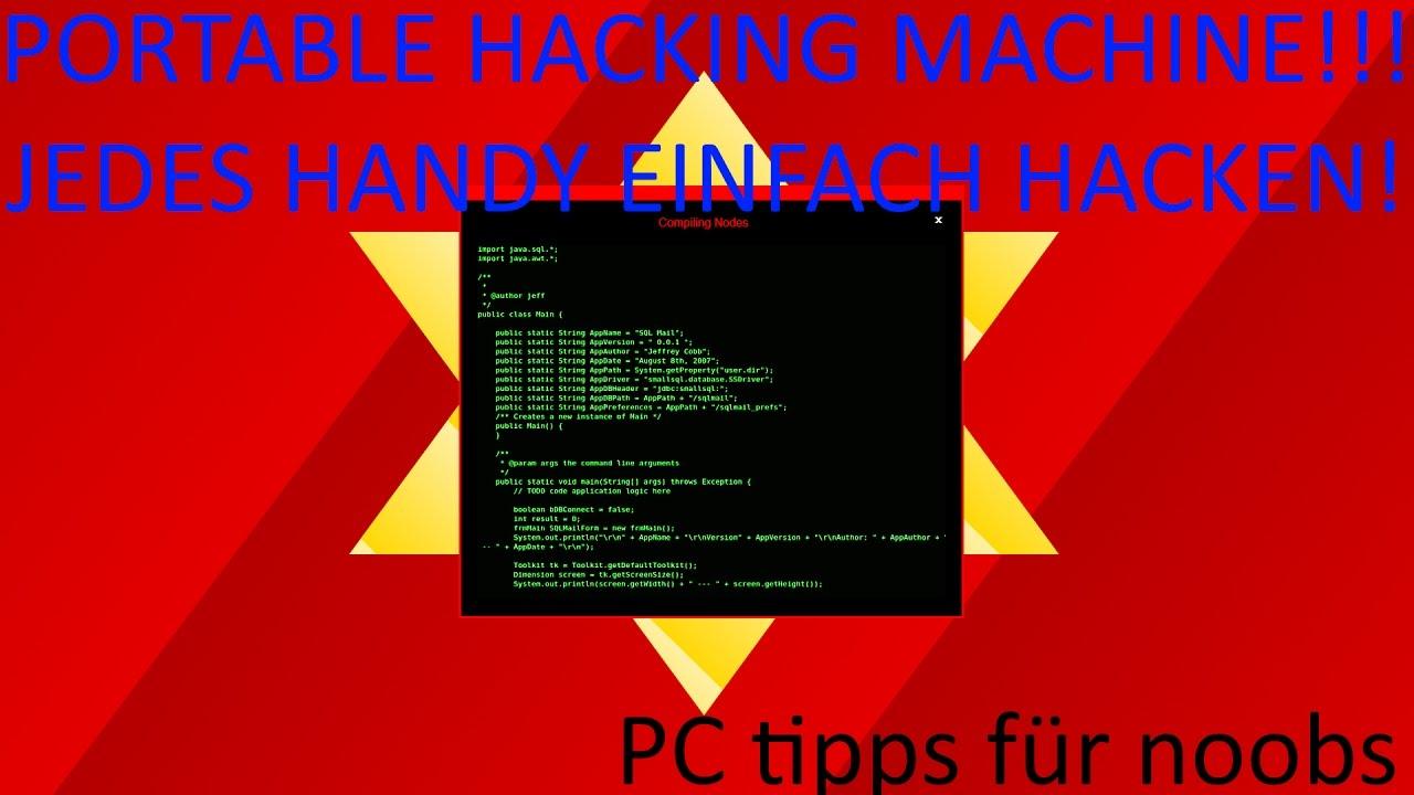 mit einem handy hacken