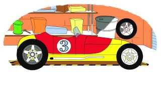 Zeichentrick-Malbuch - Die berühmten Autos. Teil 1