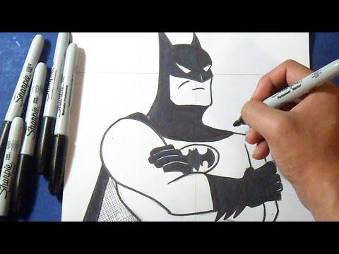 Como Desenhar Batman O Homem Morcego Youtube