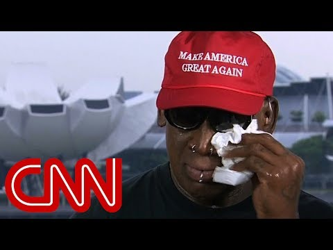 Dennis Rodman gets emotional after Trump-Kim summit