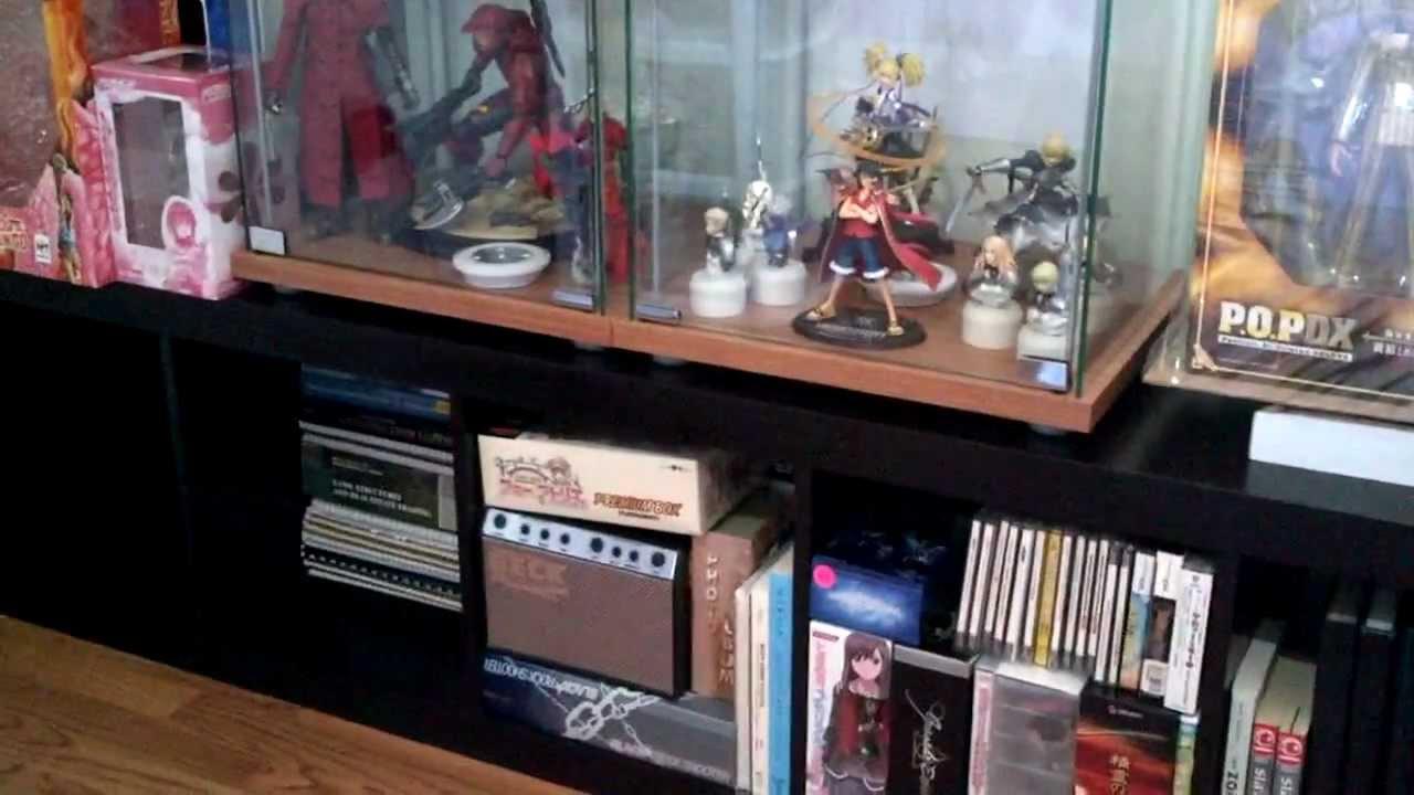 ikea detolf expedit puck light anime figure collection setup youtube. Black Bedroom Furniture Sets. Home Design Ideas