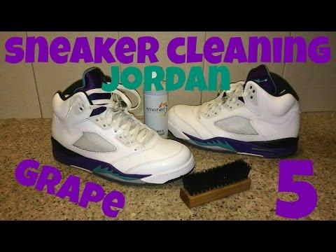 """Shoe Cleaning for Air Jordan 5 """"Grape"""""""