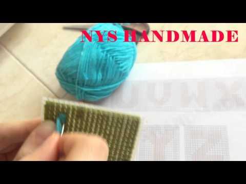 วิธีปักเฟรมแบบตัวอักษรภาษาอังกฤษ (NYS HANDMADE)