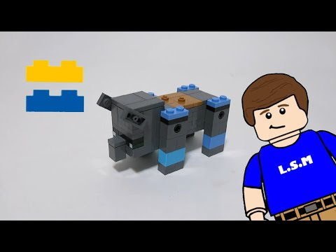 How to build a lego Minecraft ravager!