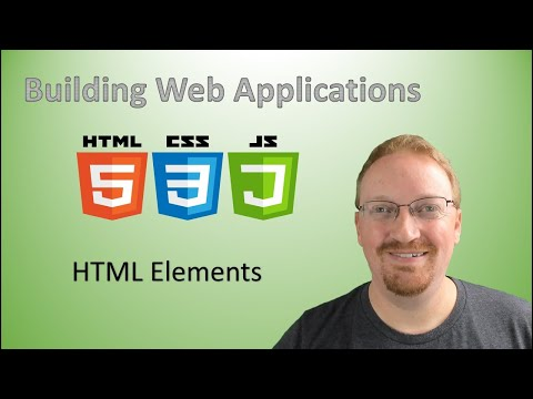 2. Building Web Applications: HTML Elements | HTML For Beginners 🌐