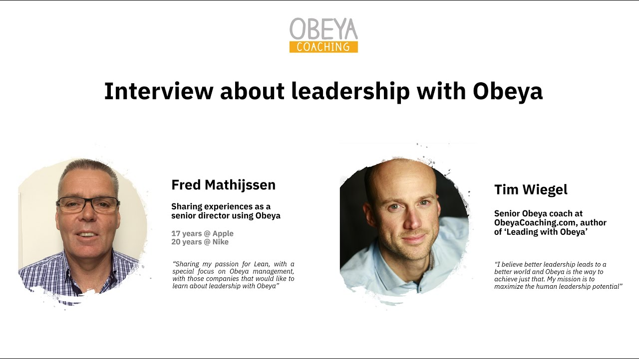 Obeya at Nike - interview with Fred Mathijssen