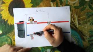 видео Схема обвязки твердотопливного котла