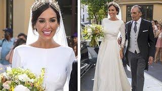 El vestido de novia de Rocío Osorno al detalle y la boda con Coco Robatto