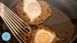Bird's Nest Pasta - Meatless Monday - Martha Stewart