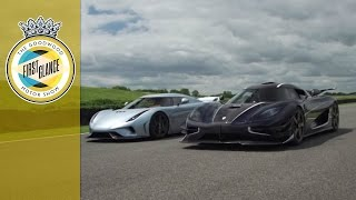 Koenigsegg Regera and One:1 driving together - WORLD EXCLUSIVE