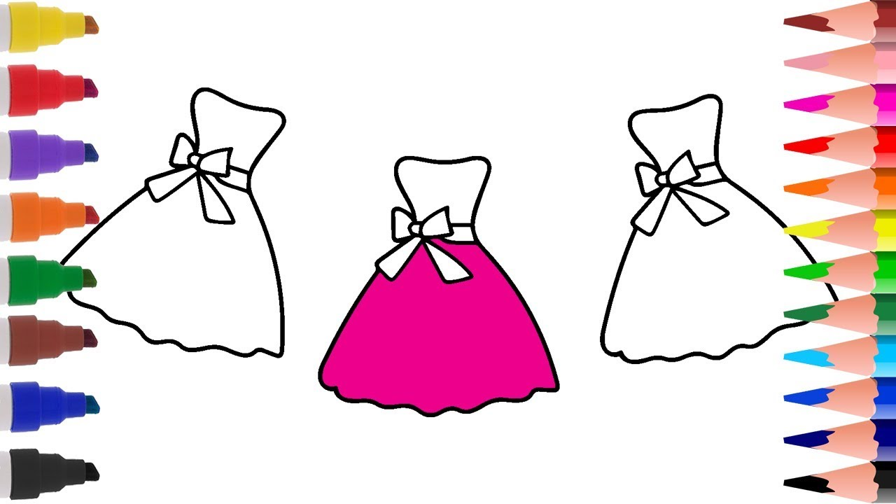 coloring pages how to draw polka dot dress coloring book learn
