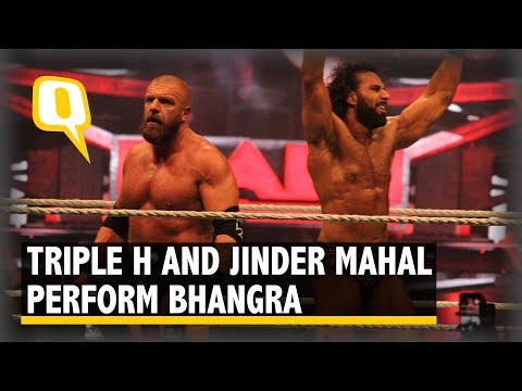 Watch | Triple H and Jinder Mahal Perform Bhangra After WWE Fight | The Quint
