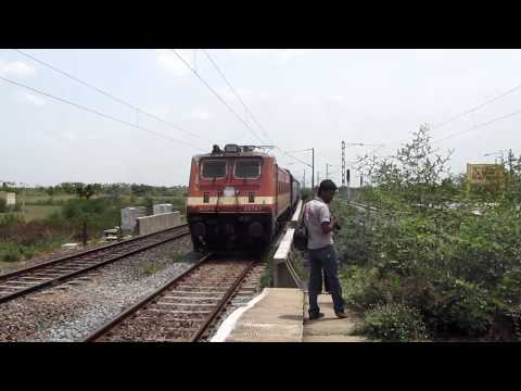 12680 COIMBATORE-CHENNAI CENTRAL INTERCITY EXPRESS WITH RPM WAP-4!!