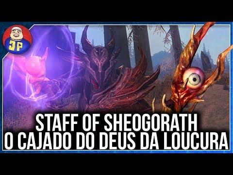 O Cajado do Deus da Loucura! | Skyrim Staff of Sheogorath (Creation Club)