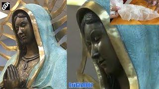 """""""Miracle"""" la statue de la Vierge Marie a pleuré à la messe, ont dit les paroissiens de Hobbs"""