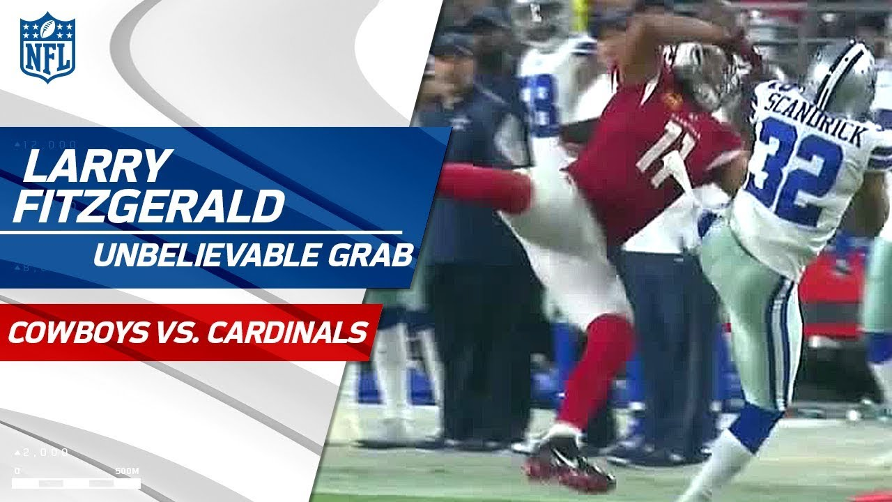 bb2642af4a4 Larry Fitzgerald Rips It Away from Scandrick for an Amazing Catch | Cowboys  vs. Cardinals | NFL Wk 3