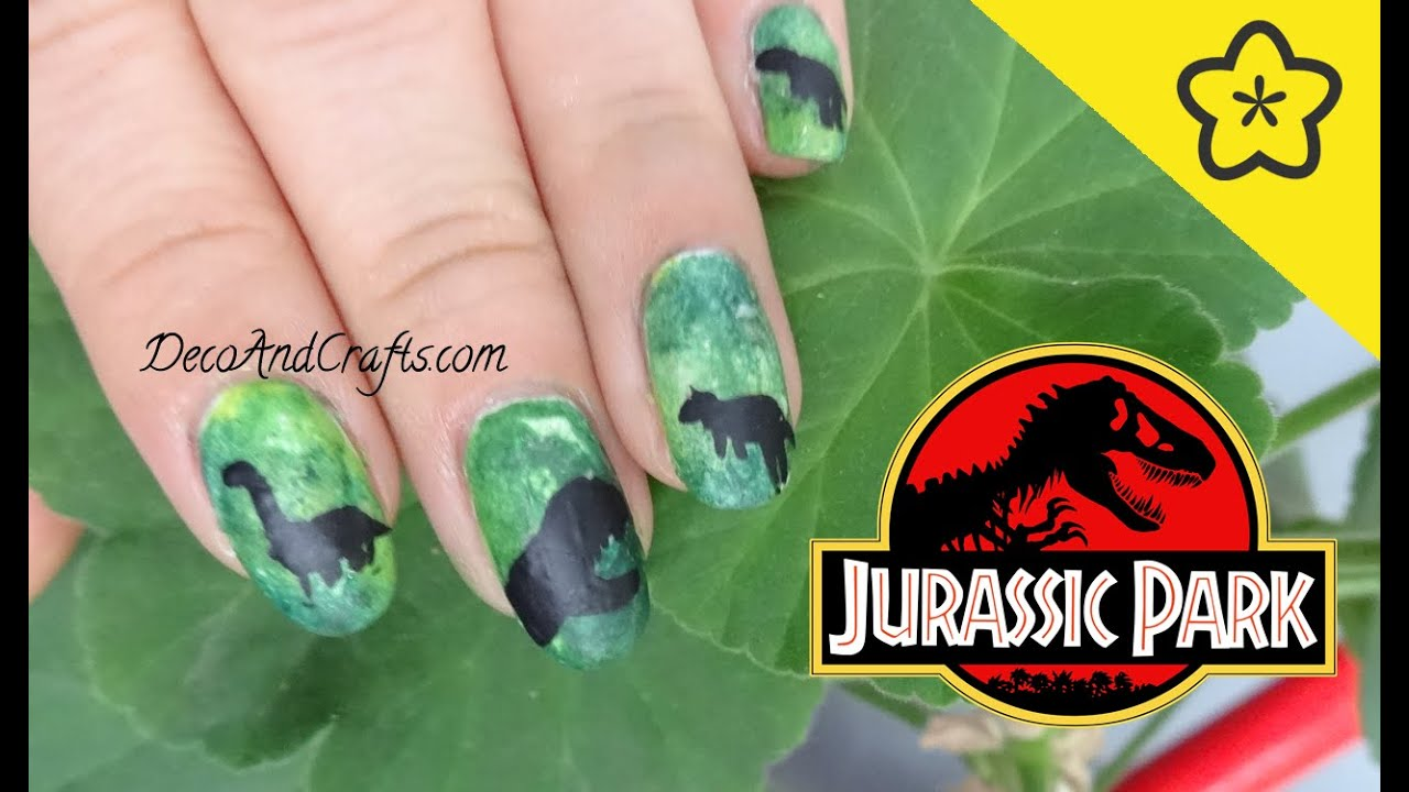 Nail Art Jurassic Park Inspiradas en Jurassic World - YouTube