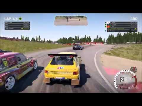 DiRT 4 - Peugeot 205 T16 - Rallycross Gameplay (PC HD) [1080p60FPS]