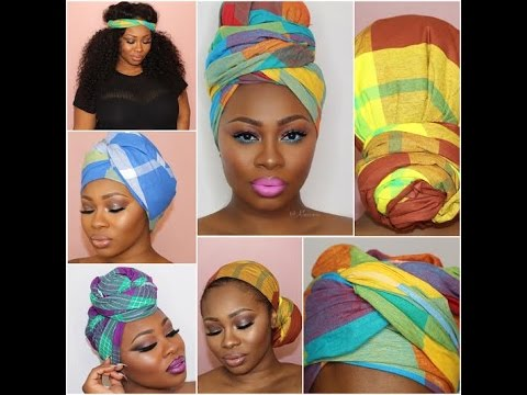 Panji Tutorial How To Tie Head Scarf