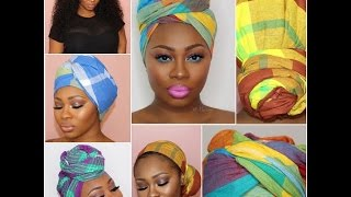 panji tutorial how to tie a head scarf