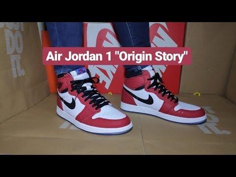 7ed67d64db3f30 Unboxing  amp  On Feet Air Jordan 1  quot Origin Story quot      quot Spiderman quot  not Chicago