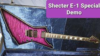 Schecter E-1 FR S Special edition in Trans Purple Burst