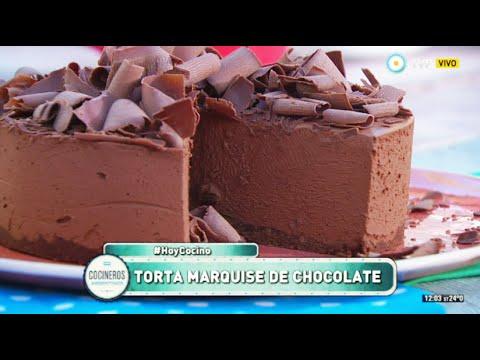 Torta marquise de chocolate
