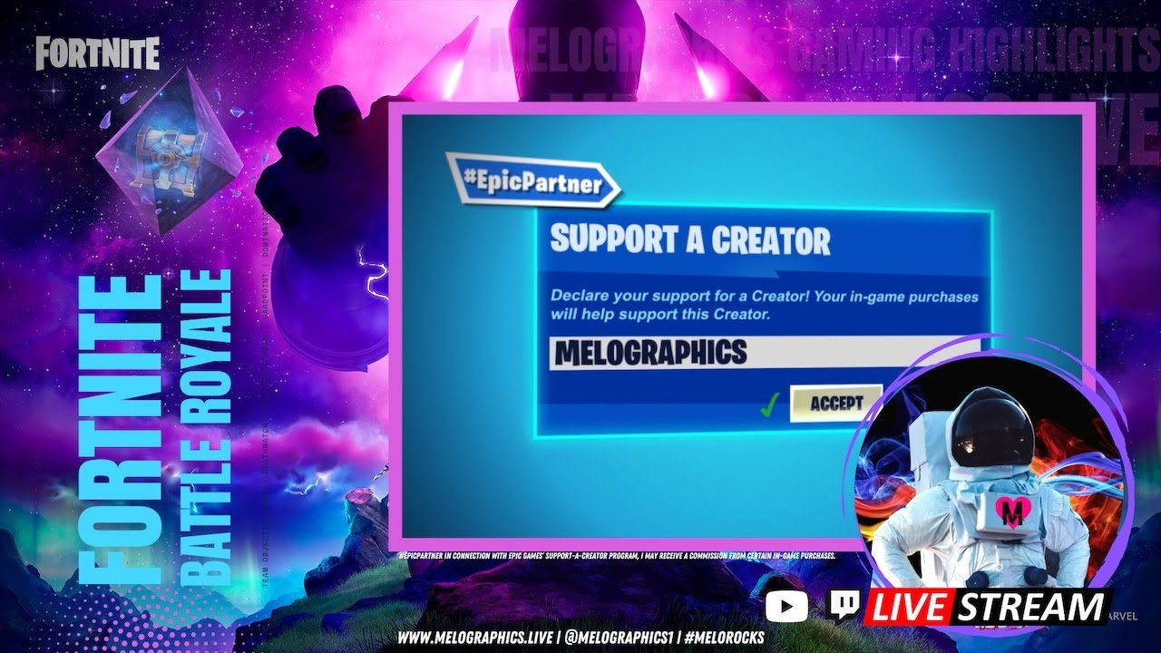 Fortnite Battle Royale Gameplay Highlights 0809   #EpicPartner Support-a-Creator MELOGRAPHICS