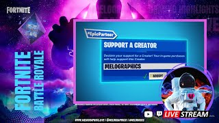 Fortnite Battle Royale Gameplay Highlights 0809 | #EpicPartner Support-a-Creator MELOGRAPHICS