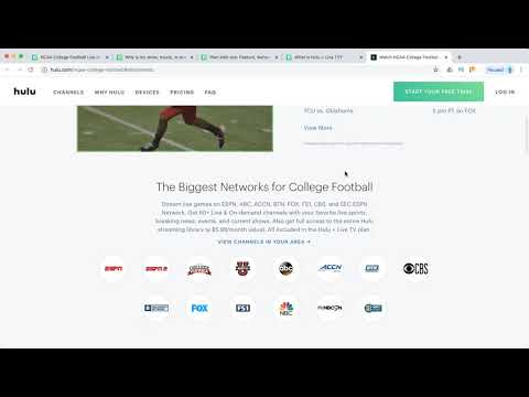 How to WATCH COLLEGE FOOTBALL on HULU?