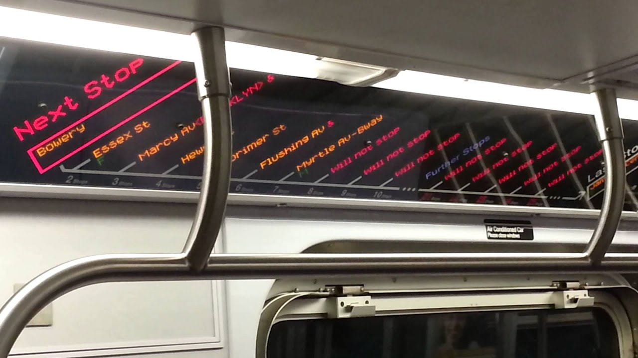 R  J Train Strip Map With Half Cancelled Stops YouTube - Nyc subway map j train