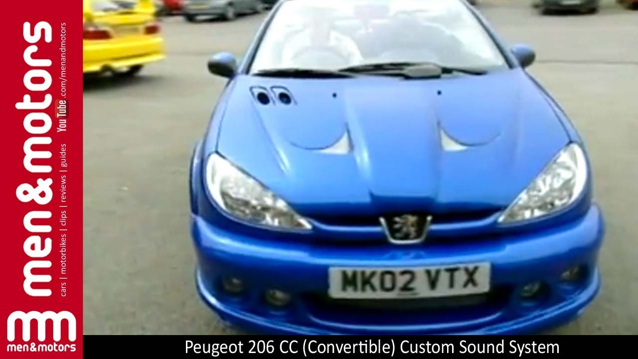 peugeot 206 cc convertible custom sound system youtube. Black Bedroom Furniture Sets. Home Design Ideas