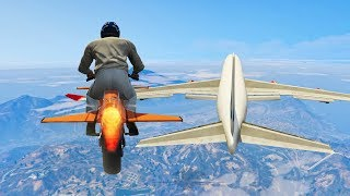 99% IMPOSSIBLE TRY TO LAND ON A PLANE CHALLENGE! (GTA 5 Mods)