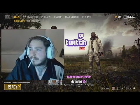 Post Malone Play PUBG And Smoking / Post Malone With His Girlfriend