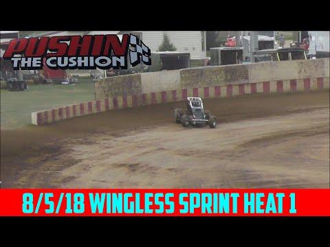 Angell Park Speedway - 8/5/18 - Sprints - Heat 1