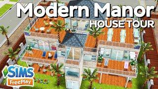 The Sims FreePlay Modern Manor Original house design YouTube