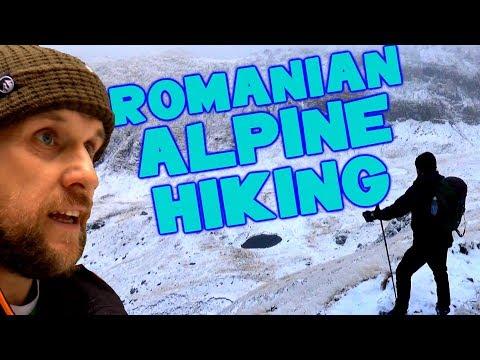 Winter Alpine Hiking Bucegi Mountains - Romanian Carpathian Mountains