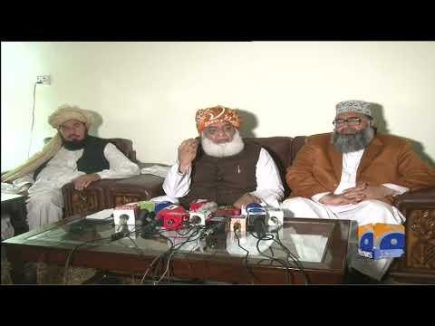 Maulana Fazal-ur-Rehman Ki Dera Ismail Khan Mien Media Se Guftugu
