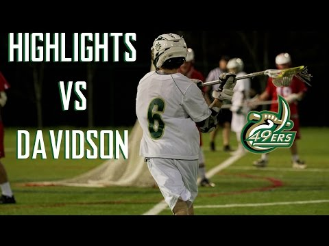 MCLA - UNC Charlotte Lacrosse Highlights vs Davidson College
