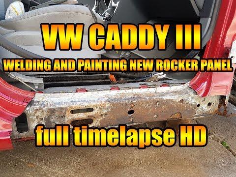 Let's Repair VW - CADDY 3 Seitenschweller schweißen und lackieren / welding  rocker panel