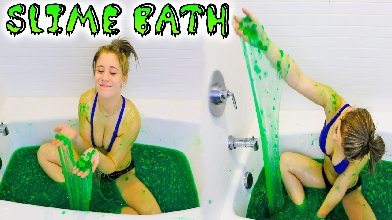 Bathtub Slime Challenge Slime Bath Youtube