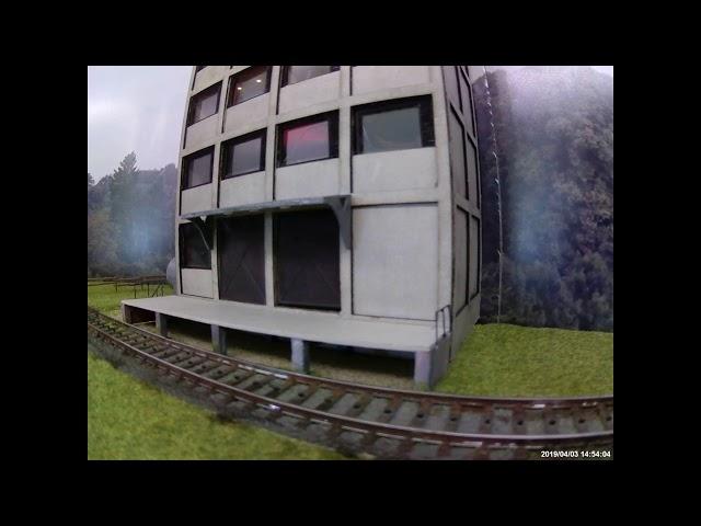 Modelbane - 3D - printet fabrik med styring af lys samt porte