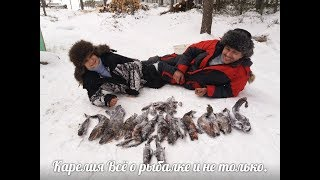 #Зима#Рыбалка#Озеро#Жерлицы#Щука#Налим#Хариус Отдыхаем и рыбачим, начало.