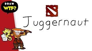 Very Easy! How to turn word JUGGERNAUT (DOTA 2) into cartoon? DRAW WTF