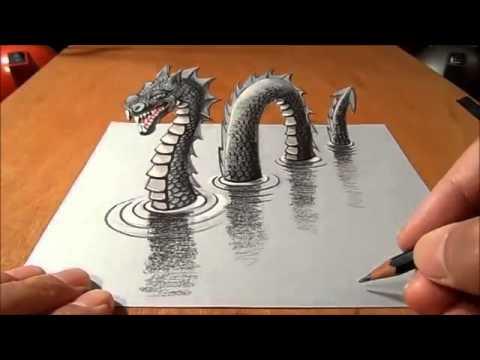 3d drawing 3d tekening youtube for Tekenen in 3d