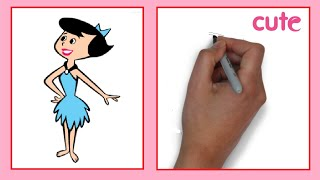 How to Draw a Betty Rubble / Как нарисовать Бэтти Раббл