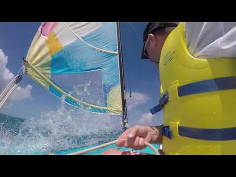 Hobie Cat sailing at the Grand Pineapple Antigua