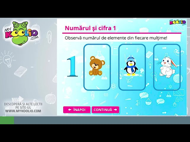 Lecție demo matematică și explorarea mediului, clasa pregătitoare - Numărul și cifra 1